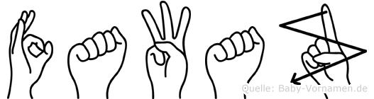 Fawaz im Fingeralphabet der Deutschen Gebärdensprache