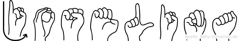 Joselina im Fingeralphabet der Deutschen Gebärdensprache