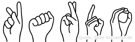 Kardo in Fingersprache für Gehörlose
