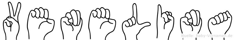 Venelina im Fingeralphabet der Deutschen Gebärdensprache