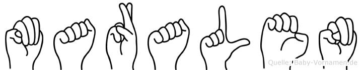 Maralen in Fingersprache für Gehörlose