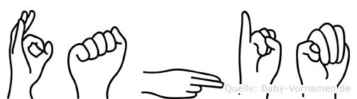 Fahim in Fingersprache für Gehörlose