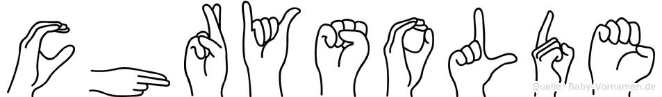 Chrysolde in Fingersprache für Gehörlose
