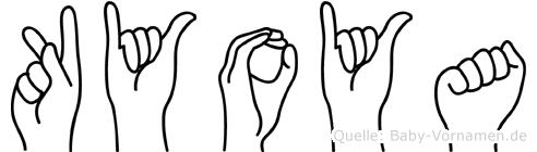 Kyoya im Fingeralphabet der Deutschen Gebärdensprache