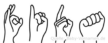 Fida in Fingersprache für Gehörlose