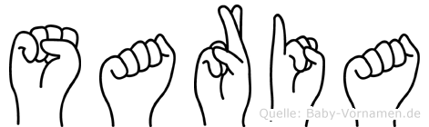 Saria in Fingersprache für Gehörlose