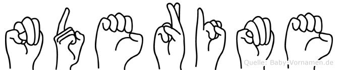 Nderime im Fingeralphabet der Deutschen Gebärdensprache