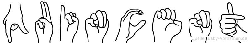 Quincent in Fingersprache für Gehörlose