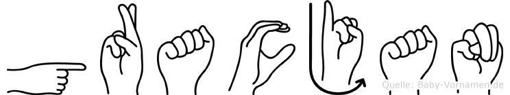 Gracjan im Fingeralphabet der Deutschen Gebärdensprache