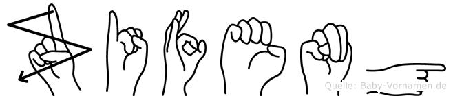 Zifeng in Fingersprache für Gehörlose