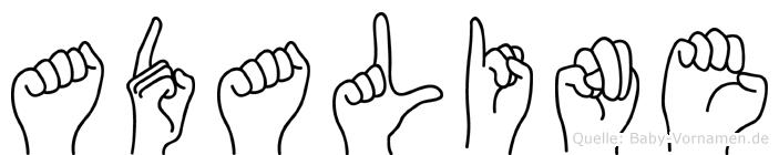 Adaline im Fingeralphabet der Deutschen Gebärdensprache