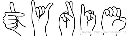 Tyrie in Fingersprache für Gehörlose
