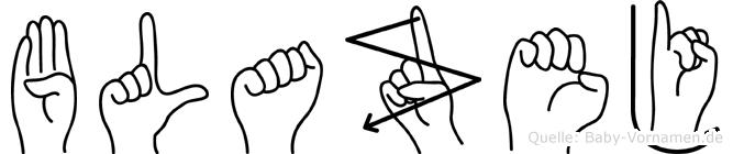 Blazej in Fingersprache für Gehörlose