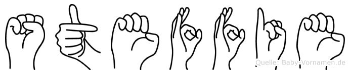Steffie im Fingeralphabet der Deutschen Gebärdensprache