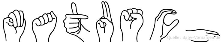 Matusch in Fingersprache für Gehörlose