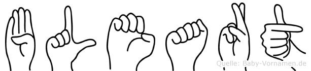 Bleart im Fingeralphabet der Deutschen Gebärdensprache