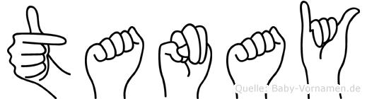 Tanay im Fingeralphabet der Deutschen Gebärdensprache