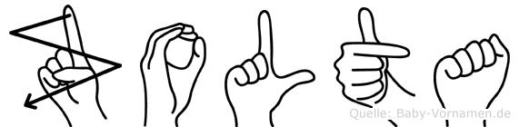 Zolta im Fingeralphabet der Deutschen Gebärdensprache