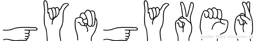 Gyöngyver in Fingersprache für Gehörlose