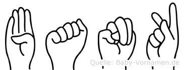 Bank in Fingersprache für Gehörlose