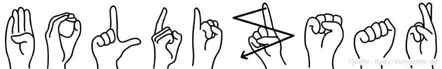 Boldizsar im Fingeralphabet der Deutschen Gebärdensprache