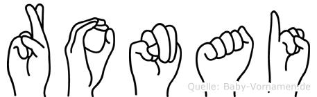 Ronai im Fingeralphabet der Deutschen Gebärdensprache