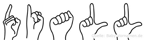 Diall in Fingersprache für Gehörlose