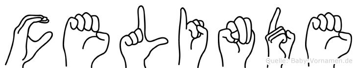 Celinde im Fingeralphabet der Deutschen Gebärdensprache