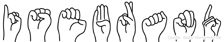 Isebrand im Fingeralphabet der Deutschen Gebärdensprache