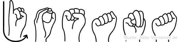 Josana im Fingeralphabet der Deutschen Gebärdensprache