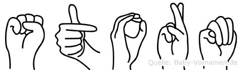 Storm in Fingersprache für Gehörlose