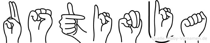 Ustinja in Fingersprache für Gehörlose