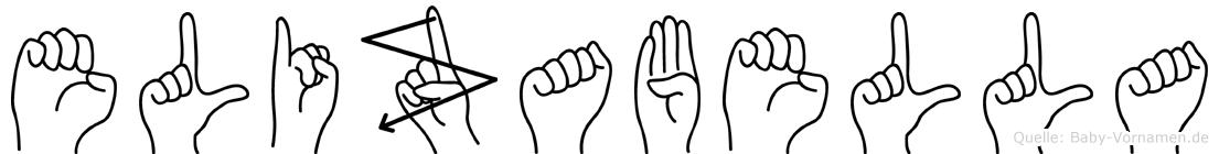 Elizabella im Fingeralphabet der Deutschen Gebärdensprache