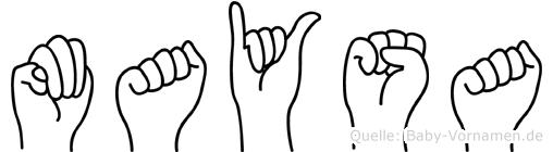 Maysa in Fingersprache für Gehörlose