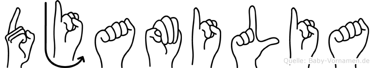 Djamilia in Fingersprache für Gehörlose