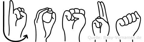 Josua in Fingersprache für Gehörlose