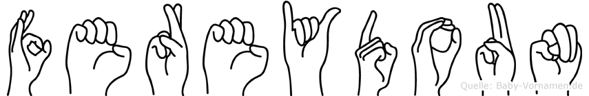Fereydoun im Fingeralphabet der Deutschen Gebärdensprache