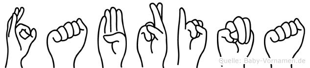 Fabrina in Fingersprache für Gehörlose