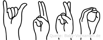 Yuro in Fingersprache für Gehörlose