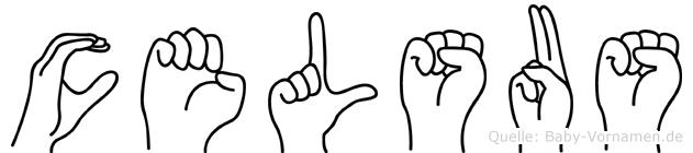 Celsus in Fingersprache für Gehörlose
