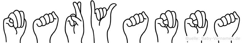 Maryanna im Fingeralphabet der Deutschen Gebärdensprache