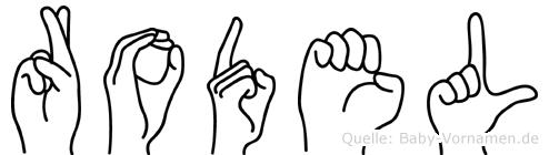 Rodel im Fingeralphabet der Deutschen Gebärdensprache