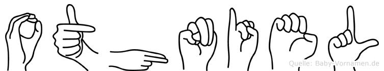 Othniel im Fingeralphabet der Deutschen Gebärdensprache