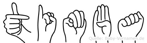 Timba im Fingeralphabet der Deutschen Gebärdensprache