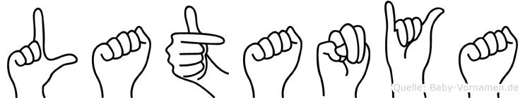 Latanya im Fingeralphabet der Deutschen Gebärdensprache