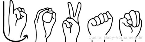 Jovan im Fingeralphabet der Deutschen Gebärdensprache