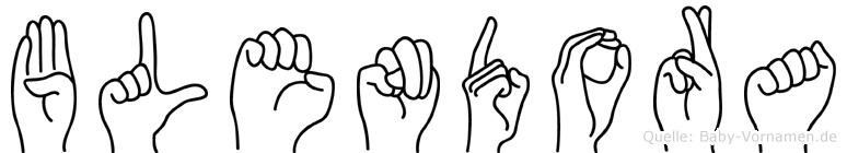 Blendora in Fingersprache für Gehörlose