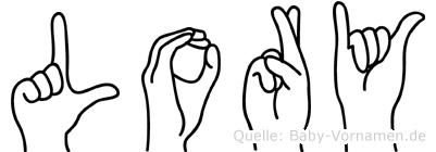 Lory im Fingeralphabet der Deutschen Gebärdensprache