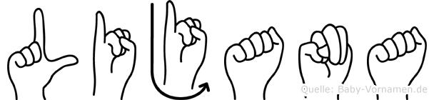 Lijana in Fingersprache für Gehörlose