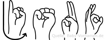Jsuf in Fingersprache für Gehörlose